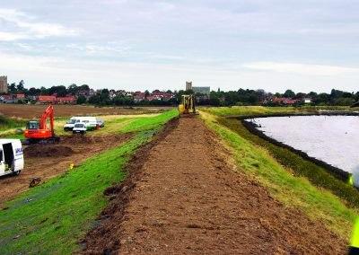 Amélioration de Digue – Orford, Angleterre